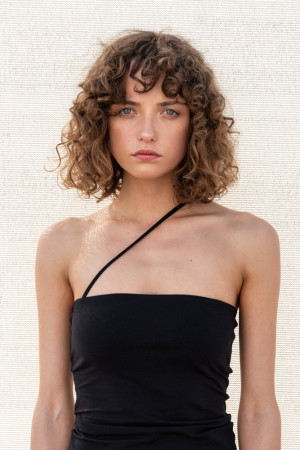 strapless top black